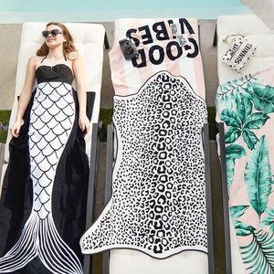 ISO Emily and Meritt leopard beach towel